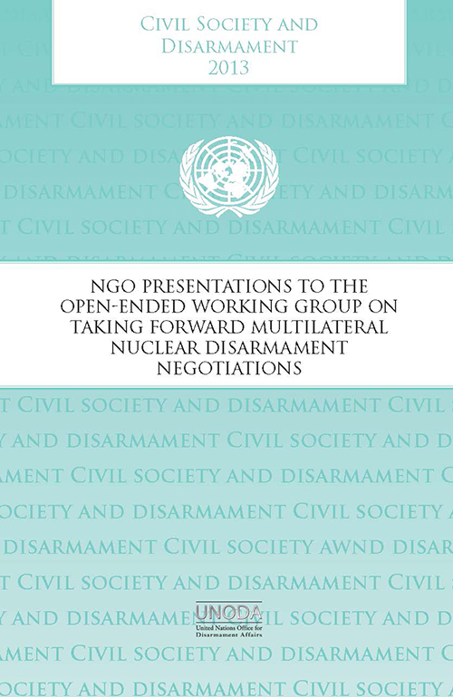 CIVIL SOCIETY & DISARMAMENT 2013