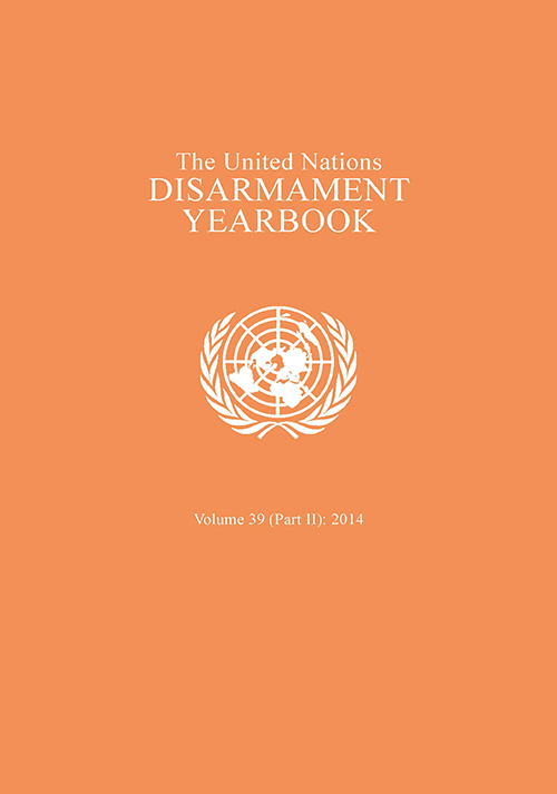 UN DISARMAMENT YRBK 2014 V39 P2
