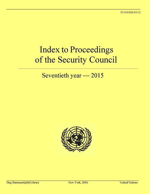 INDEX PROC SECURITY COUNCIL 2015