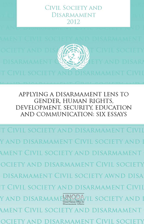 CIVIL SOCIETY & DISARMAMENT 2012