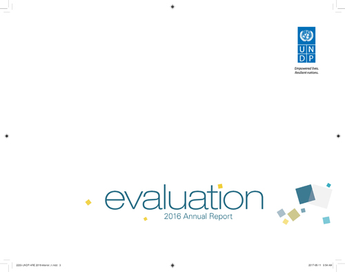 ANNUAL RPT ON EVALUATION 2016