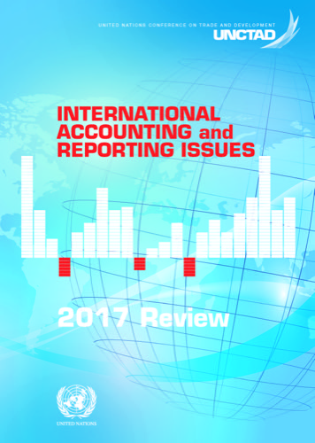 INTL ACC & REPORTING ISSUES 2017