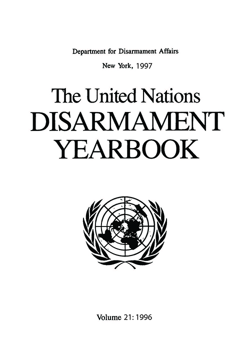 UN DISARMAMENT YRBK 1996 V21