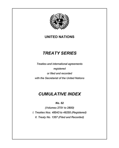 TREATY SERIES CUM INDEX #52