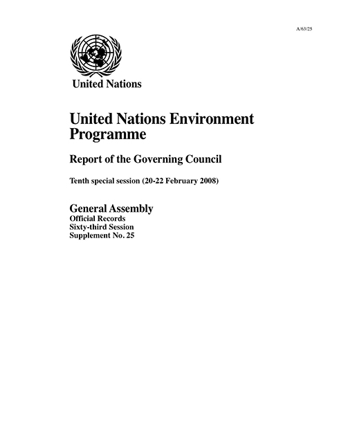GAOR 63RD SUPP25 GOV COUNCIL UNEP