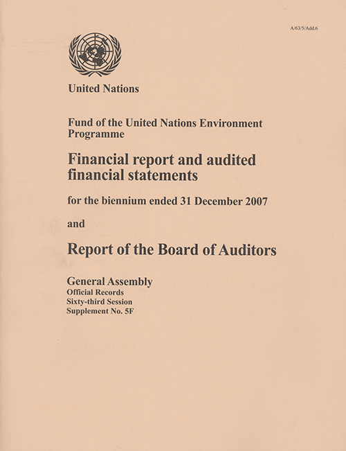 GAOR 63RD SUPP5F UNEP AUDIT