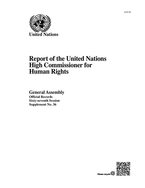 GAOR 67TH SUPP36 OHCHR RPT