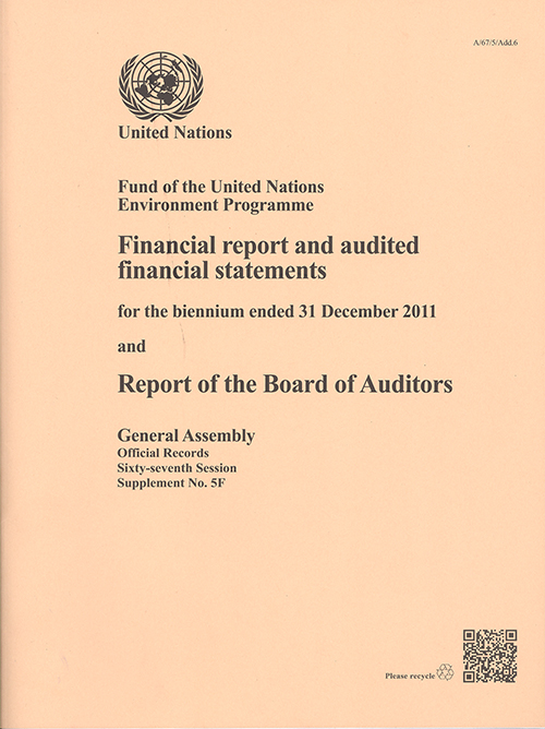 GAOR 67TH SUPP5F UNEP AUDIT