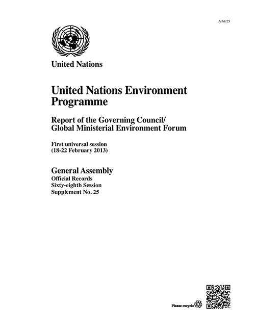 GAOR 68TH SUPP25 UNEP GOV COUNCIL