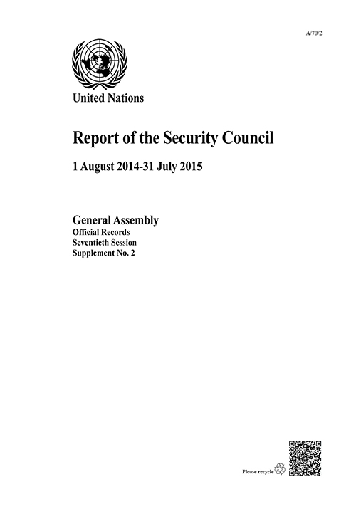 GAOR 70TH SUPP2 SECURITY COUNCIL