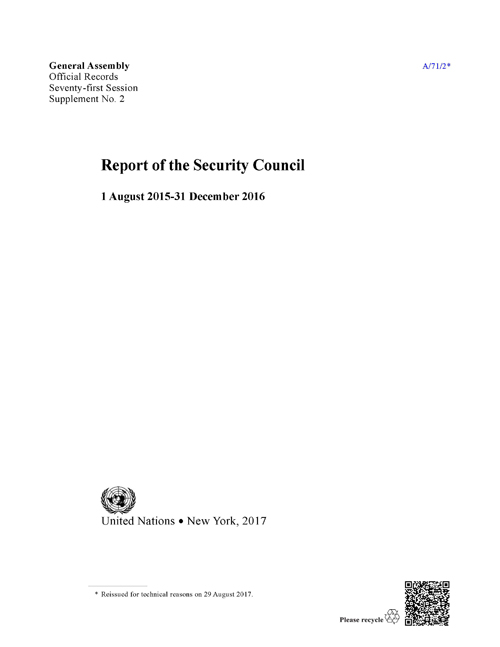 GAOR 71ST SUPP2 SECURITY COUNCIL