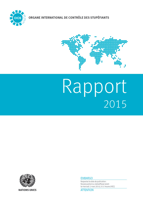 RAPPORT ORGANE INTL CONTROLE 2015