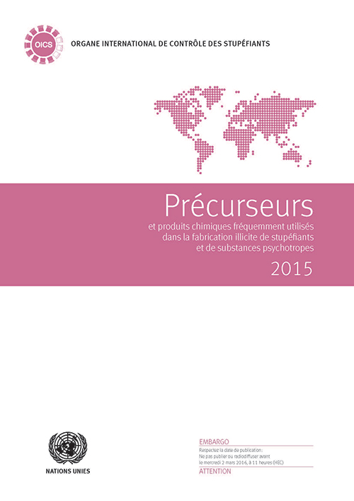 PRECURSORS ILLICIT DRUGS 2015 (F)