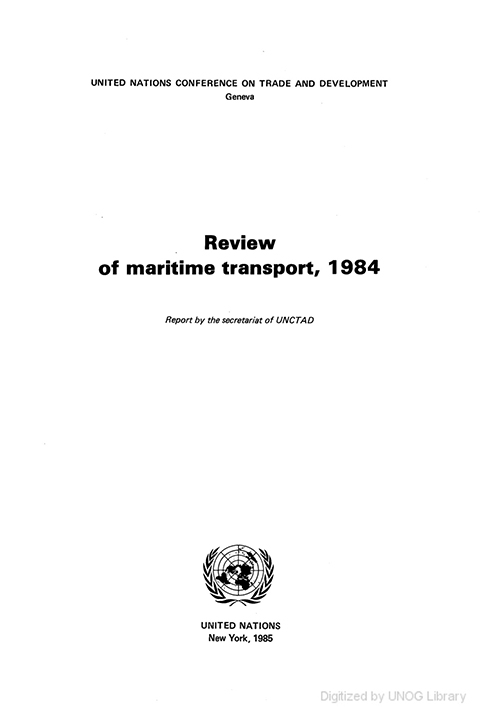 REVIEW MARITIME TRANS 1984