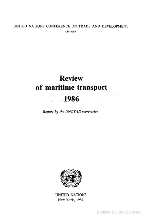 REVIEW MARITIME TRANS 1986