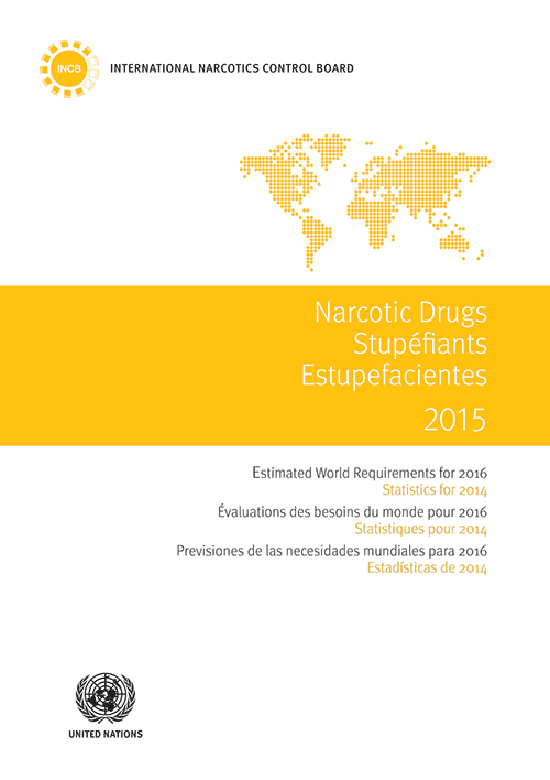 NARC DRUGS EST WORLD REQ 2016