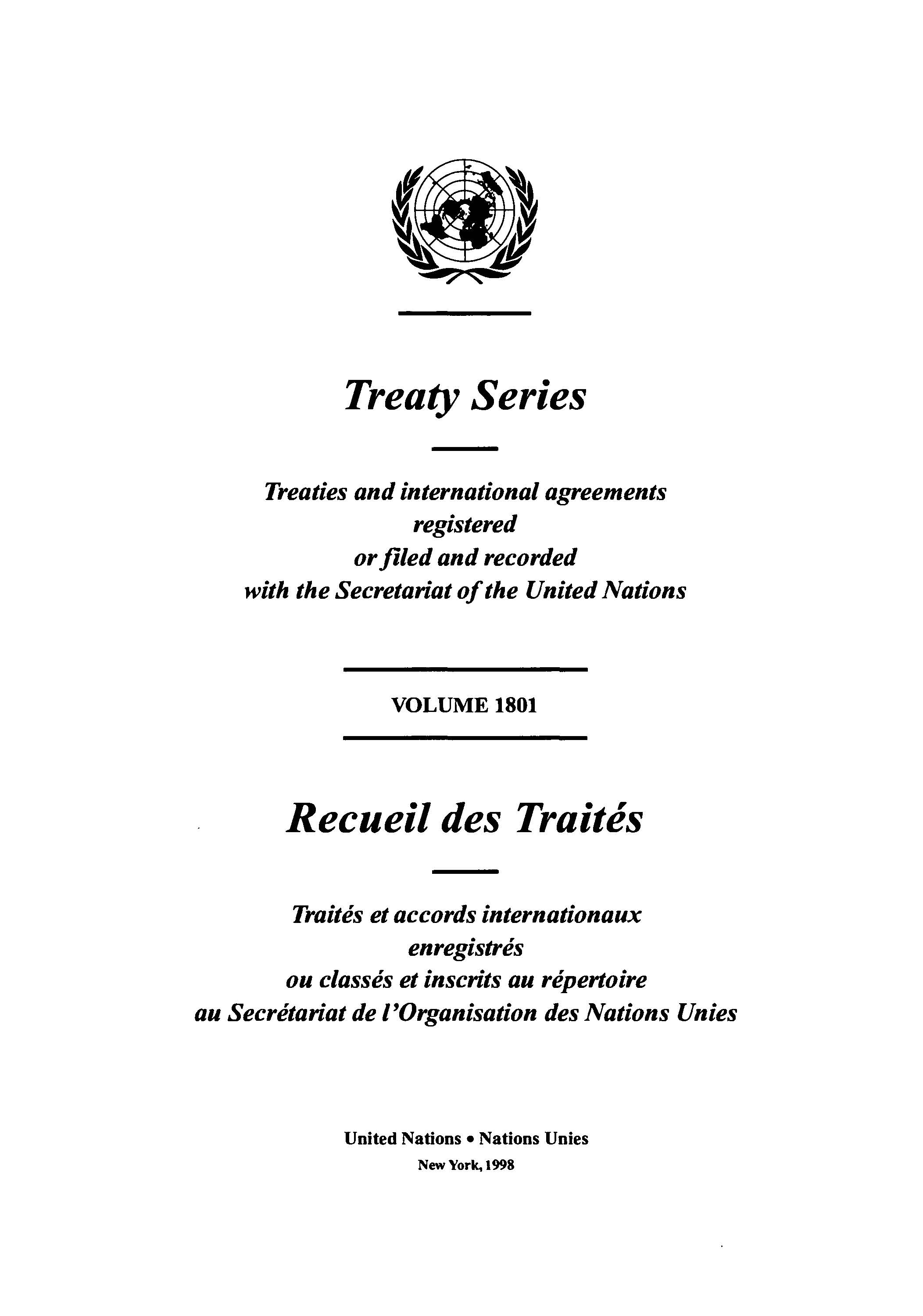 TREATY SERIES 1801