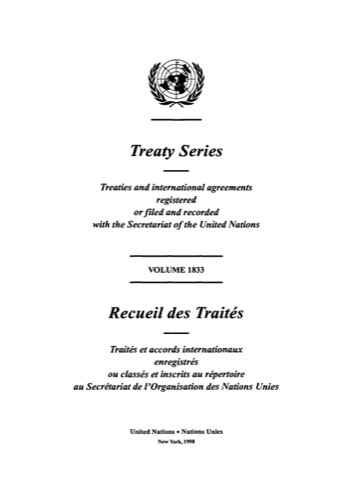TREATY SERIES 1833