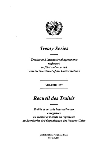 TREATY SERIES 1857 I 31595-31607