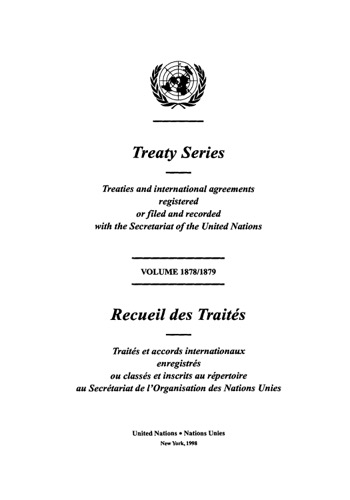 TREATY SERIES 1878/1879