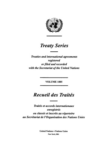 TREATY SERIES 1885