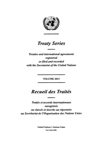 TREATY SERIES 2013