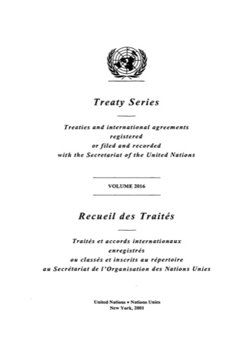 TREATY SERIES 2016