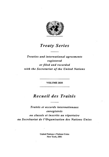 TREATY SERIES 2035 ANNEX A