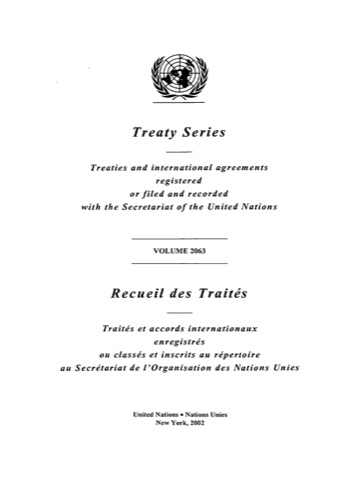 TREATY SERIES 2063 I 35712-35730