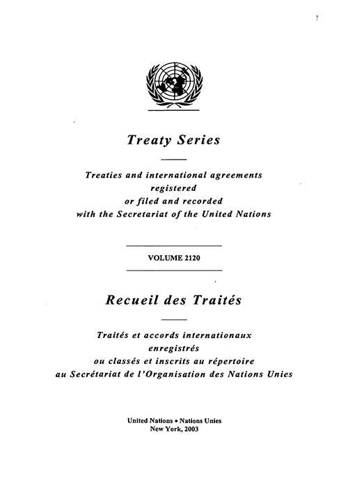 TREATY SERIES 2120 I 36869-36926