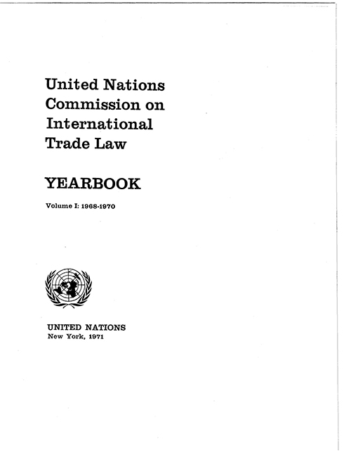 UNCITRAL YRBK 1968/70 V1 (CD)