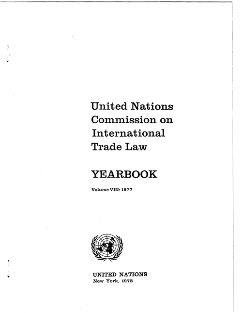 UNCITRAL YRBK 1977 V8 (CD)
