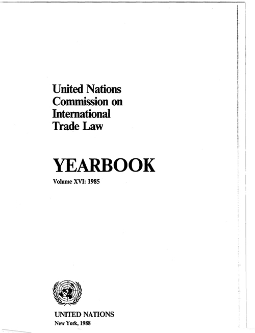 UNCITRAL YRBK 1985 V16 (CD)