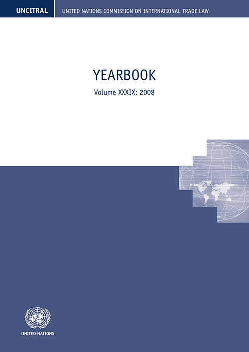 UNCITRAL YRBK 2008 V39 (CD)