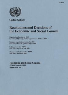 EOR 2005 SUPP1 RES DEC ECOSOC