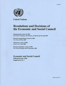 EOR 2009 SUPP1 RES DEC ECOSOC