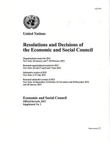 EOR 2012 SUPP1 RES DEC ECOSOC