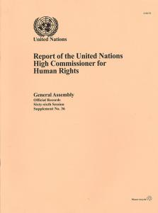 GAOR 66TH SUPP36 OHCHR RPT