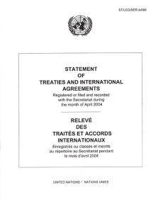 STATEMENT OF TREATIES APR 2004