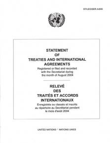 STATEMENT OF TREATIES AUG 2004