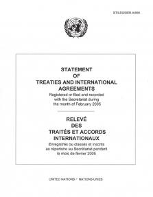 STATEMENT OF TREATIES FEB 2005