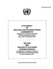 STATEMENT OF TREATIES FEB 2011
