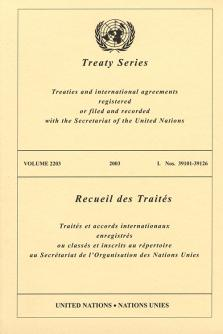 TREATY SERIES 2203 I 39101-39126