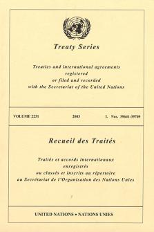 TREATY SERIES 2231 I 39641-39709