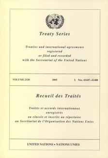 TREATY SERIES 2320