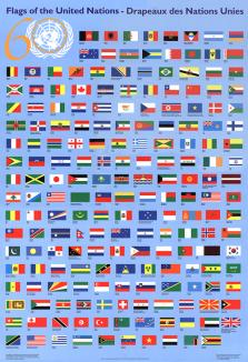 UNITED NATIONS FLAG CHART (FLAT)