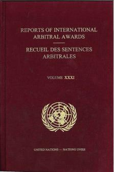 RPT INTL ARBITRAL AWARDS #31
