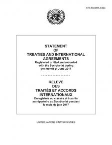 STATEMENT OF TREATIES JUN 2017