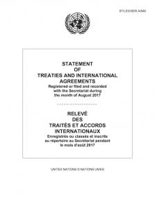 STATEMENT OF TREATIES AUG 2017