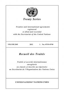 TREATY SERIES 2845